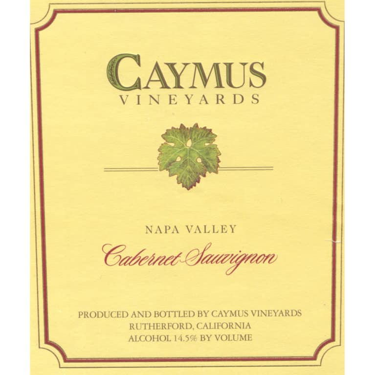Caymus Napa Valley Cabernet Sauvignon 1987 Front Label