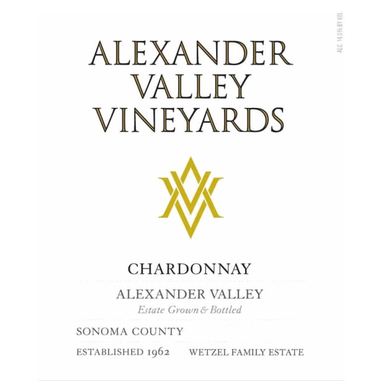 Alexander Valley Vineyards Estate Chardonnay 2012 Front Label