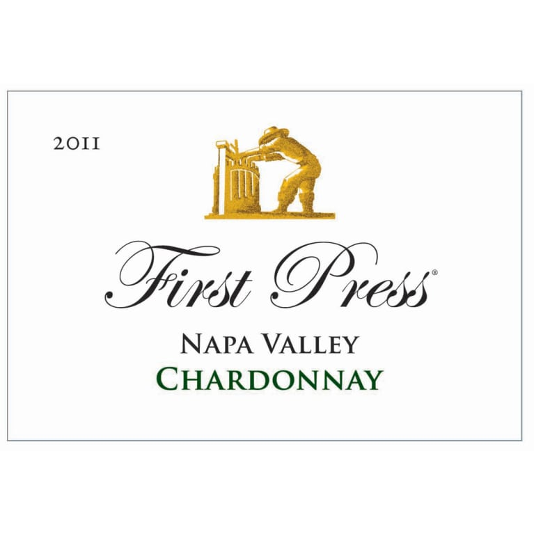 First Press Wine Cellars Napa Valley Chardonnay 2011 Front Label