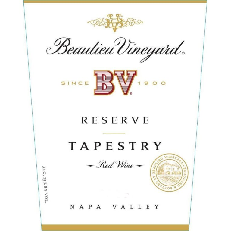 Beaulieu Vineyard Reserve Tapestry 2010 Front Label
