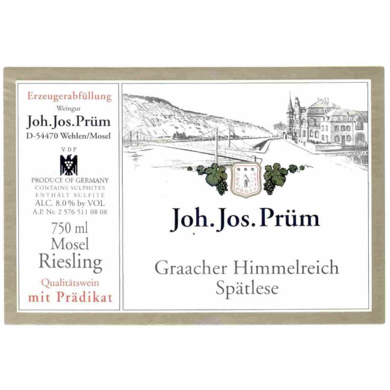 J.J. Prum Graacher Himmelreich Spatlese Riesling 2011 Front Label