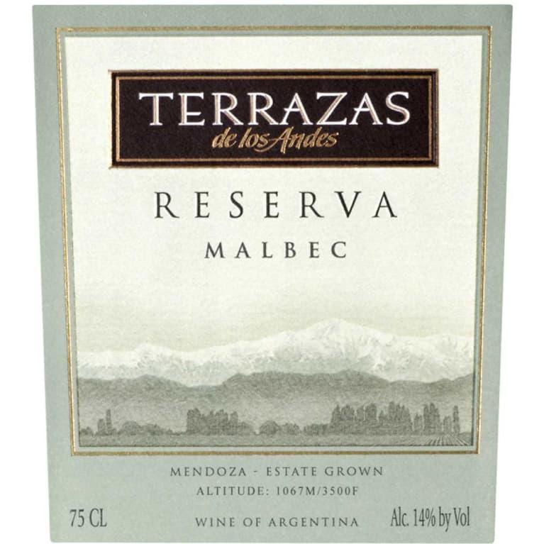 Terrazas De Los Andes Reserva Malbec 2012