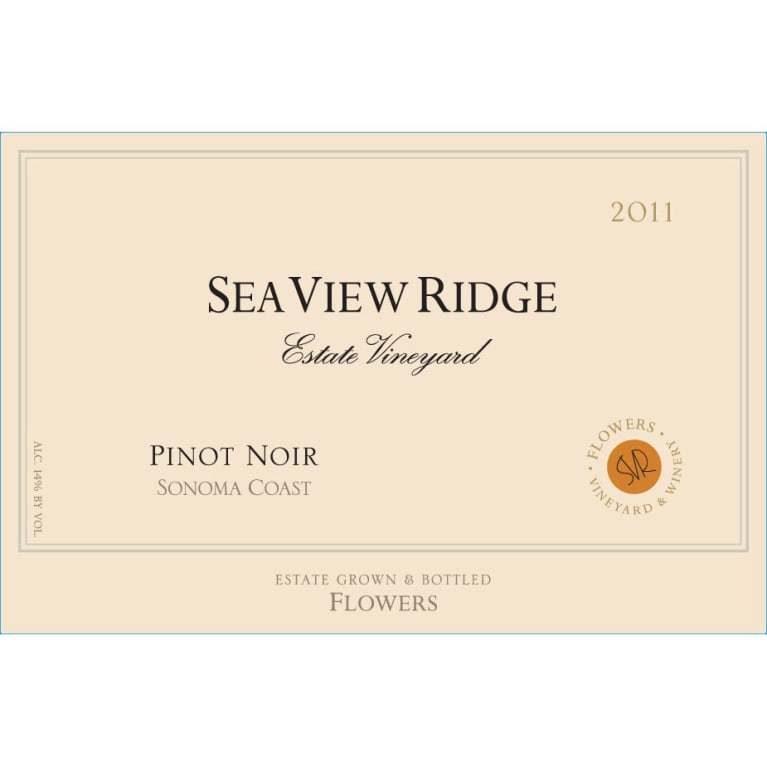 Flowers Sea View Ridge Pinot Noir 2011 Front Label