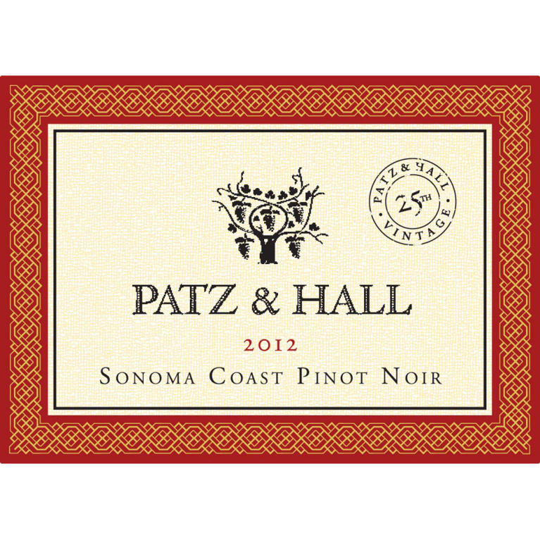 Patz & Hall Sonoma Coast Pinot Noir (375ML half-bottle) 2012 Front Label