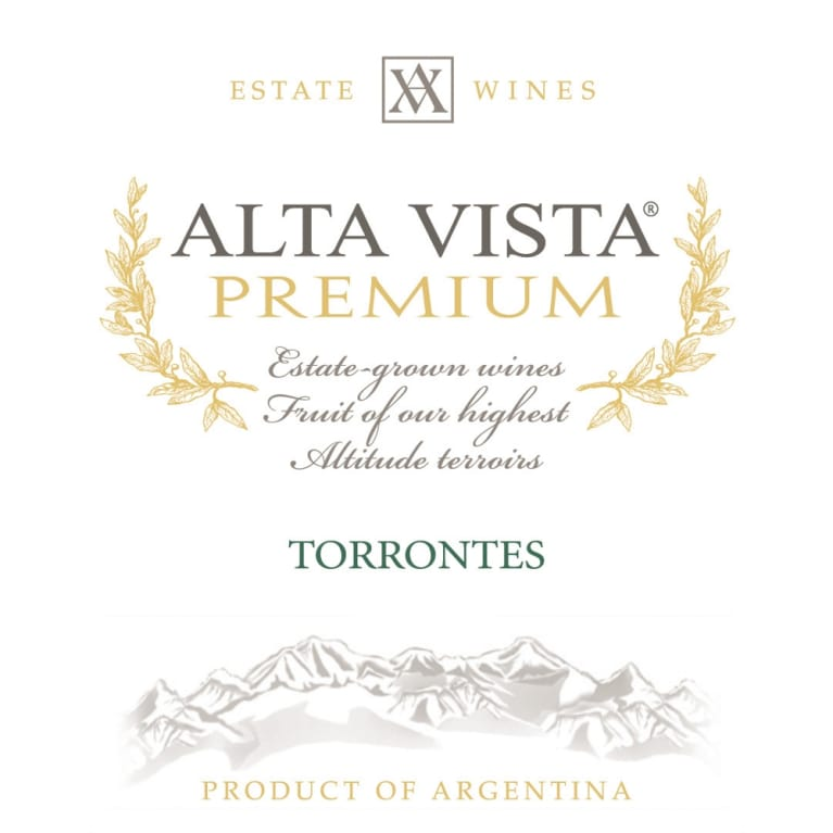 Alta Vista Estate Torrontes 2012 Front Label