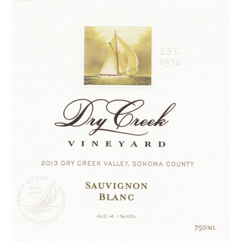 Dry Creek Vineyard Sauvignon Blanc 2013 Front Label
