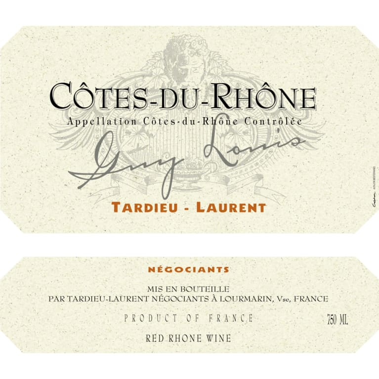 Tardieu-Laurent Guy Louis Cotes du Rhone 2011 Front Label
