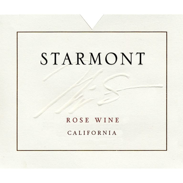 Starmont Rose 2011 Front Label