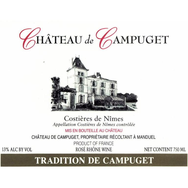 Chateau de Campuget Tradition Rose 2013 Front Label