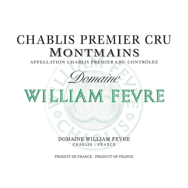 William Fevre Chablis Montmains Premier Cru 2011 Front Label