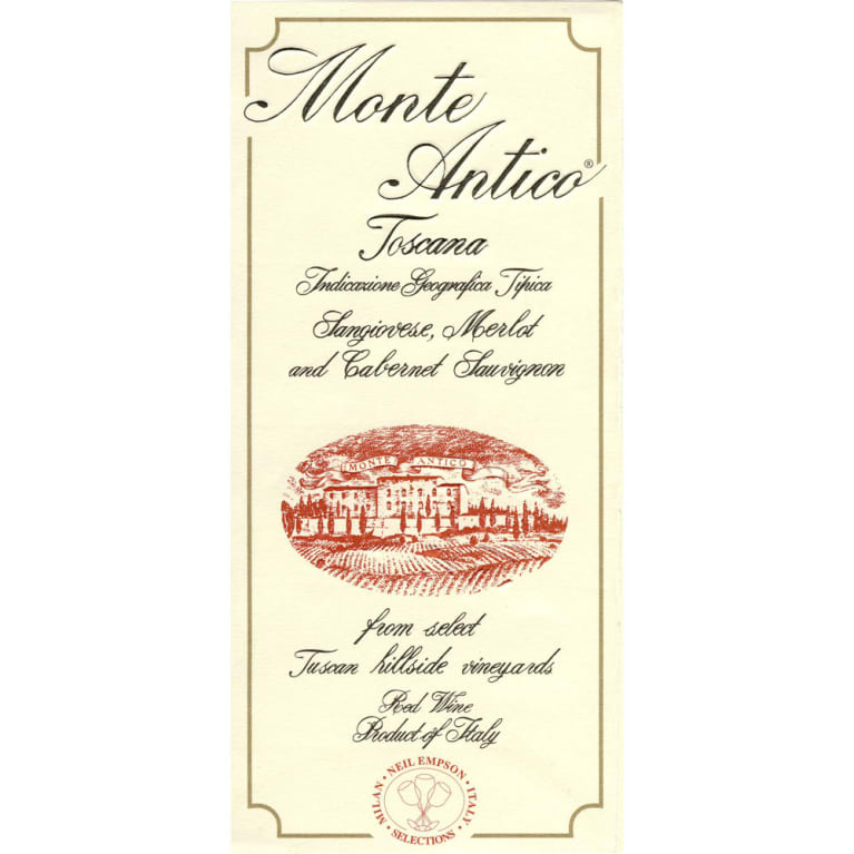 Monte Antico Rosso (3 Liter Bottle) 2009 Front Label
