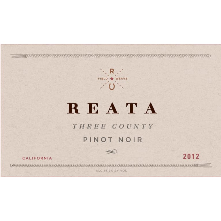 Reata Three County Pinot Noir 2012 Front Label