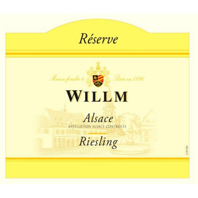 Alsace Willm Riesling Reserve (375ML half-bottle) 2012 Front Label