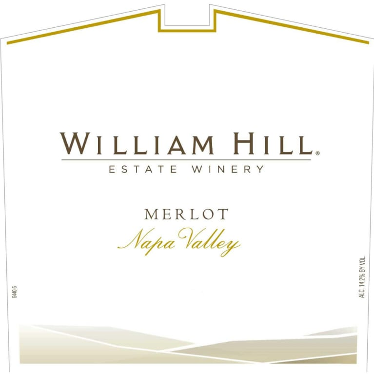 William Hill Napa Valley Merlot 2010 Front Label