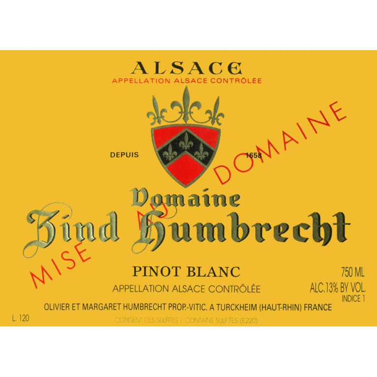 Zind-Humbrecht Pinot Blanc 2011 Front Label