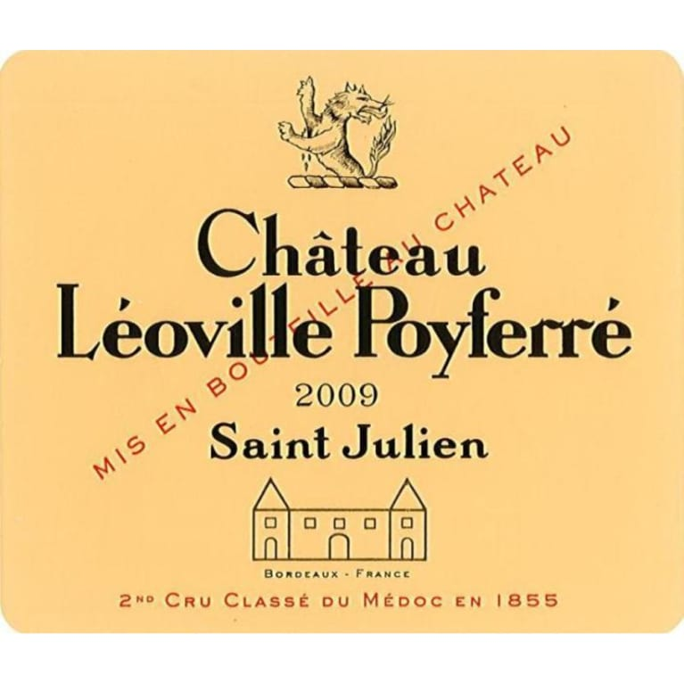 Chateau Leoville Poyferre (375ML half-bottle) 2009 Front Label