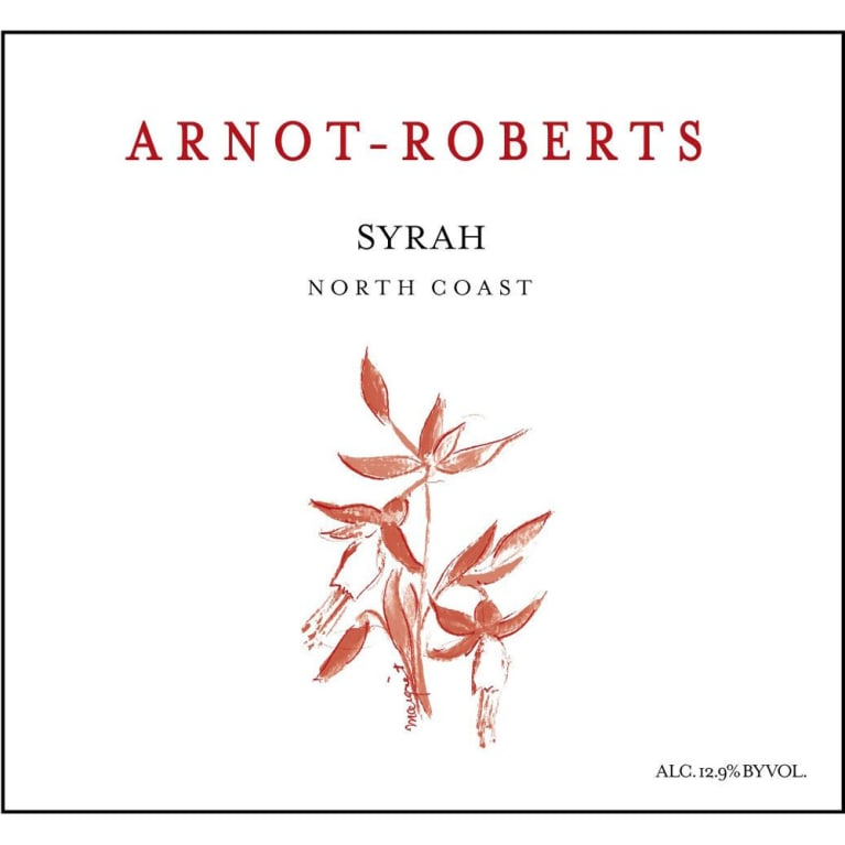 Arnot-Roberts North Coast Syrah 2012 Front Label