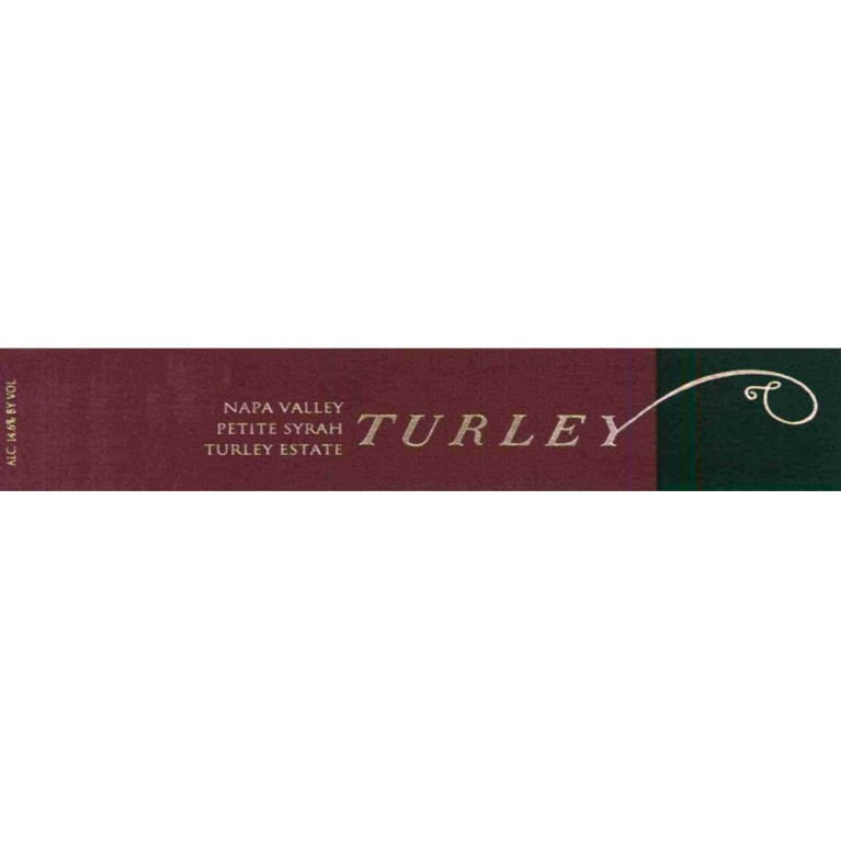 Turley Estate Petite Syrah 2012 Front Label