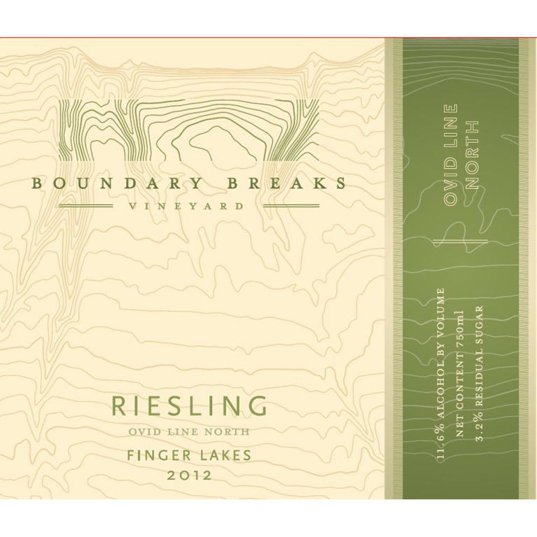 Boundary Breaks Ovid Line North Riesling 2012 Front Label