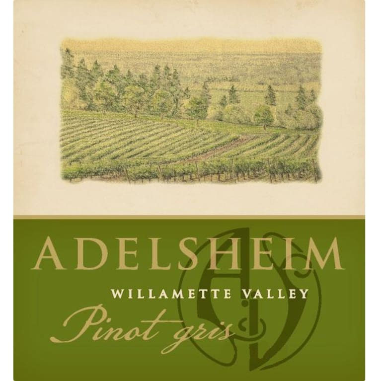 Adelsheim Pinot Gris 2013 Front Label