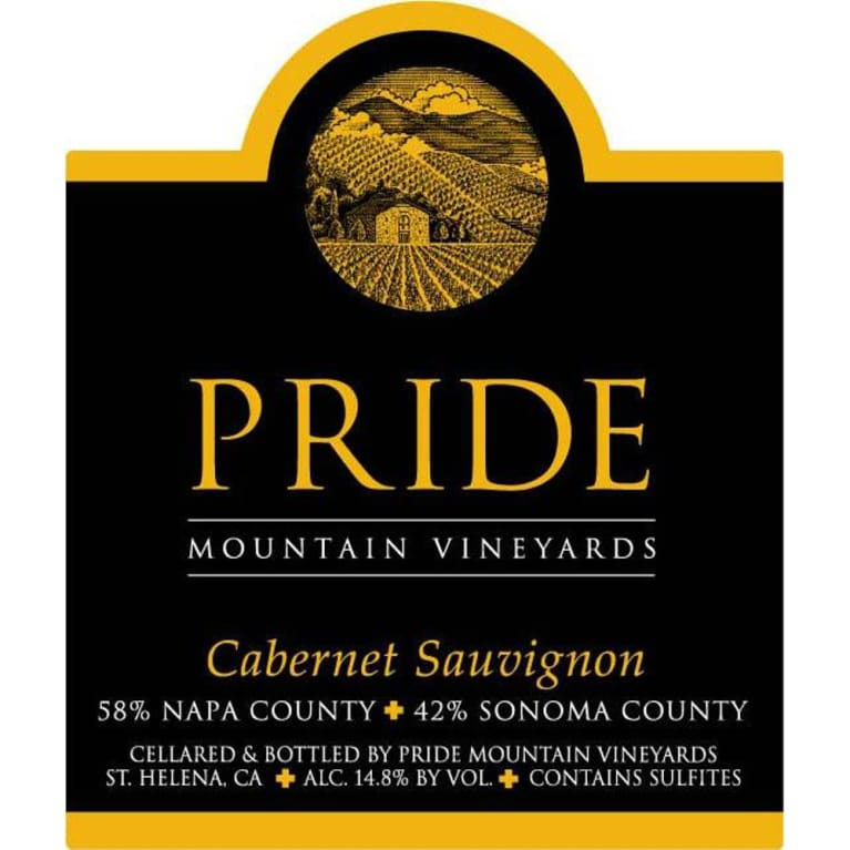 Pride Mountain Vineyards Cabernet Sauvignon 2011 Front Label