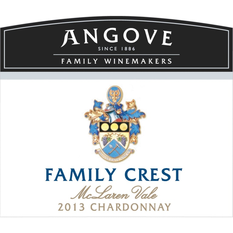 Angove Family Winemakers Family Crest Chardonnay 2013 Front Label