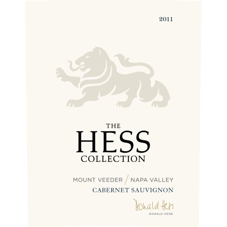 Hess Collection Mount Veeder Cabernet Sauvignon 2011 Front Label
