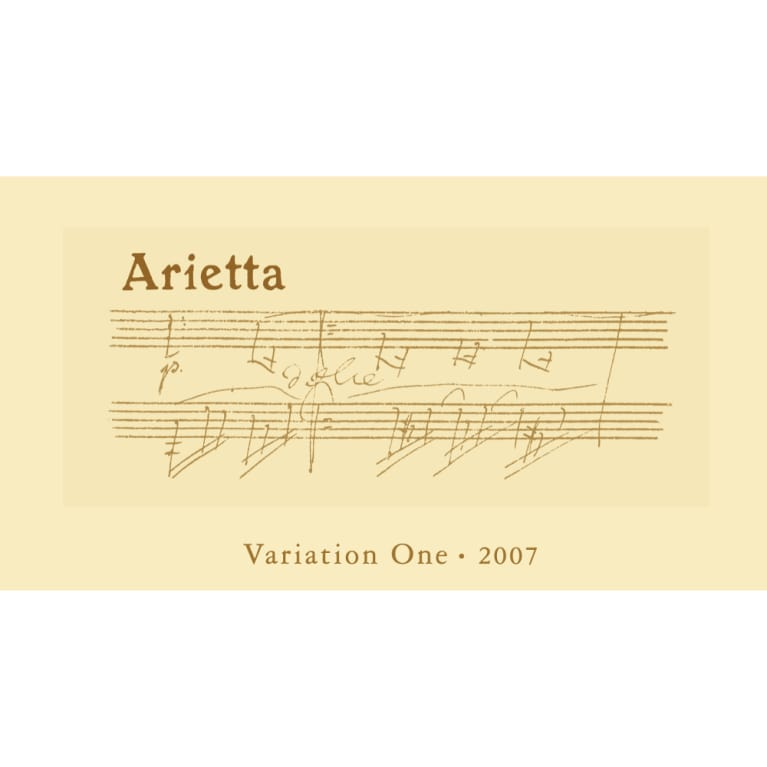 Arietta Variation One 2007 Front Label