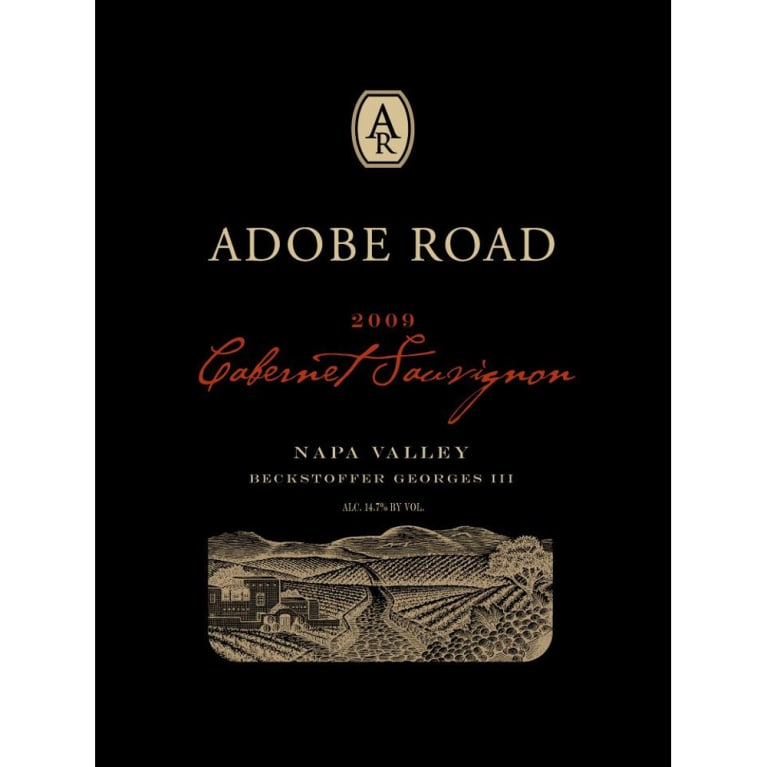 Adobe Road Beckstoffer Georges III Cabernet Sauvignon 2009 Front Label