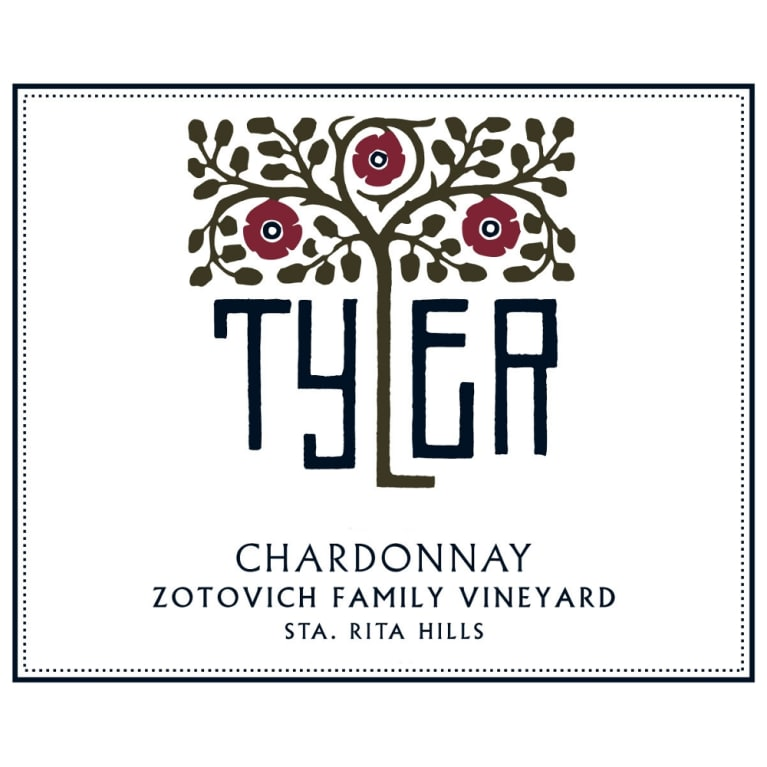 Tyler Winery Zotovich Family Vineyard Chardonnay 2012 Front Label