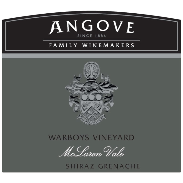 Angove Family Winemakers Warboys Vineyard Shiraz-Grenache 2013 Front Label