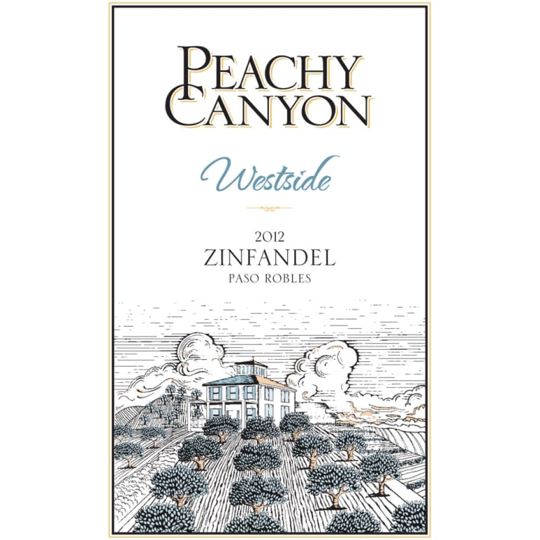 Peachy Canyon Westside Zinfandel 2012 Front Label
