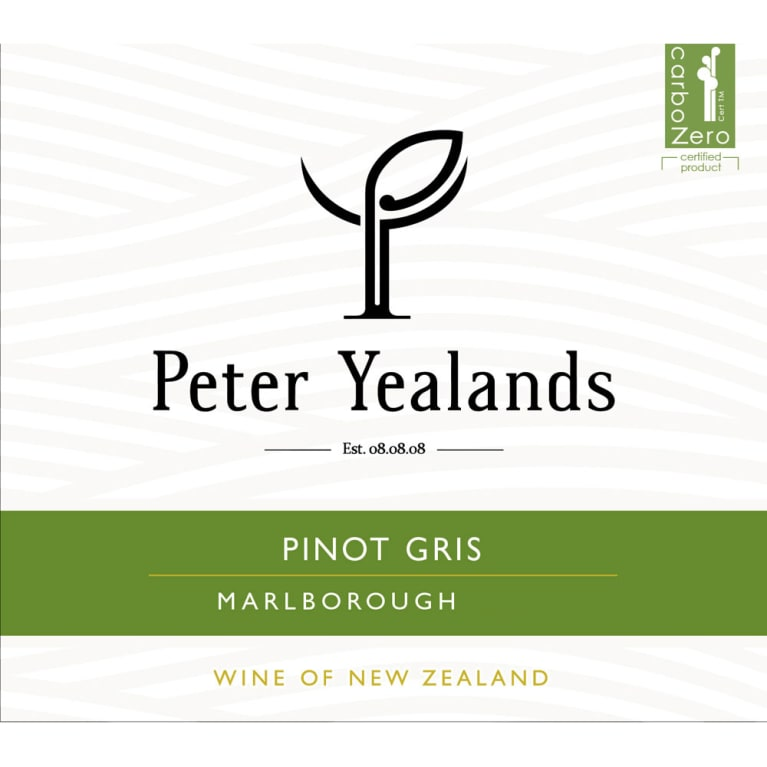 Yealands Pinot Gris 2014 Front Label
