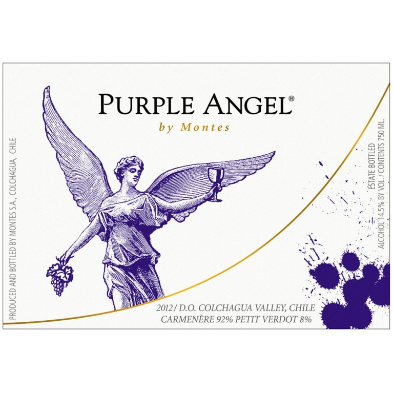 Montes Purple Angel Apalta Vineyard Carmenere 2012 Front Label