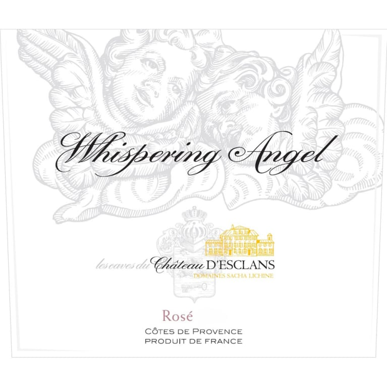 Chateau d'Esclans Whispering Angel Rose 2014 Front Label