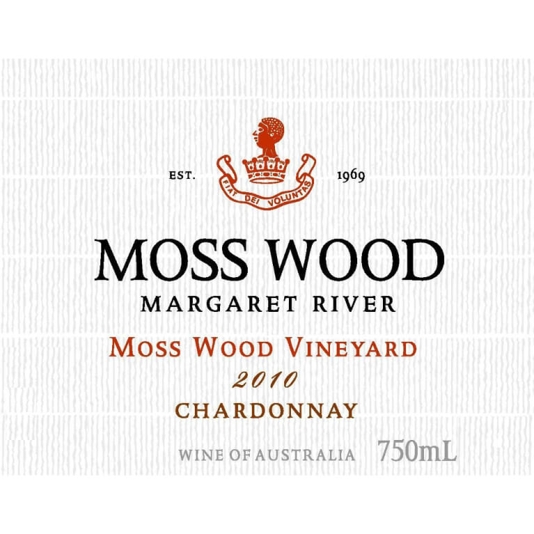 Moss Wood Chardonnay 2010 Front Label