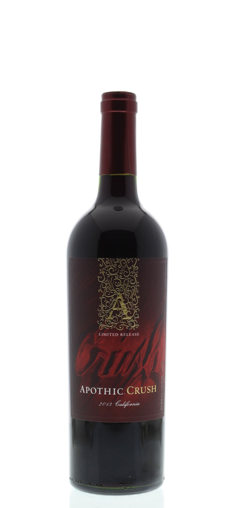 Front shot of wine bottle