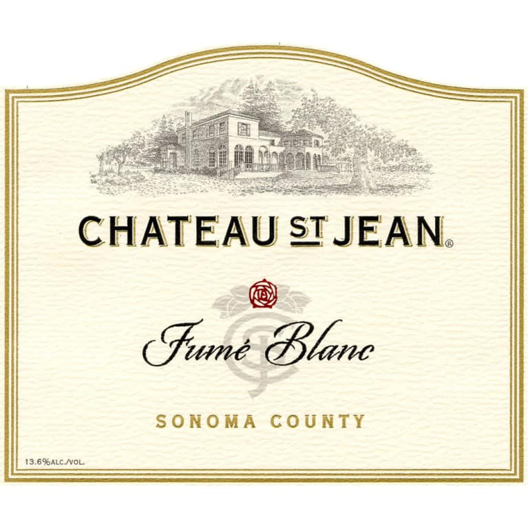 Chateau St. Jean Fume Blanc 2013 Front Label