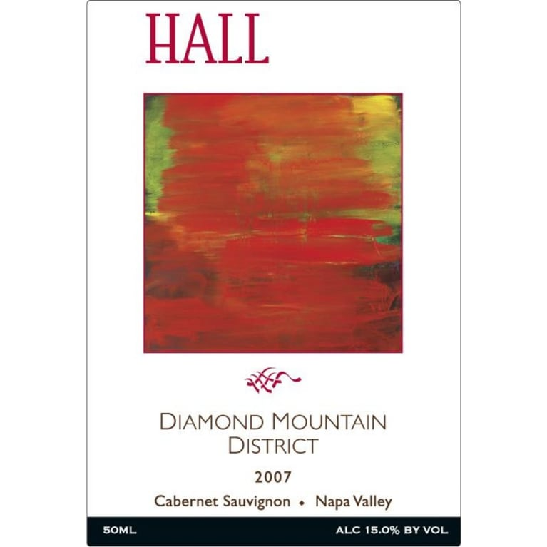 Hall Diamond Mountain District Cabernet Sauvignon 2007 Front Label