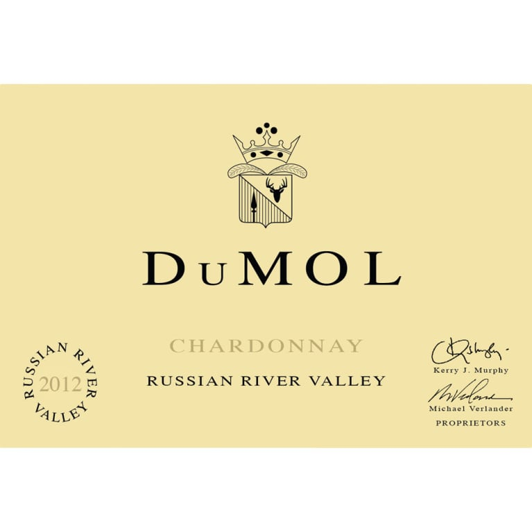DuMOL Russian River Valley Chardonnay 2012 Front Label