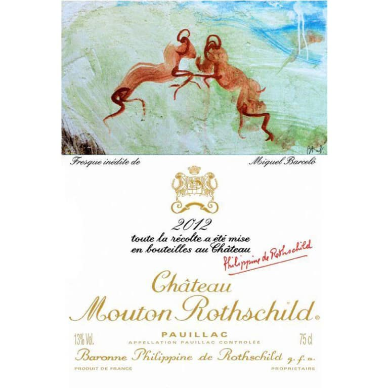 Chateau Mouton Rothschild  2012 Front Label