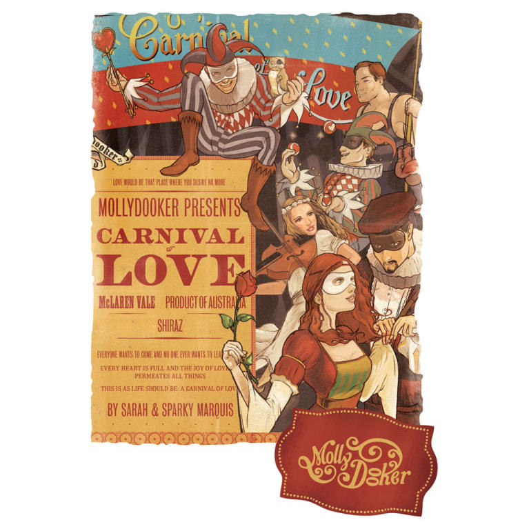 Mollydooker Carnival of Love 2013 Front Label