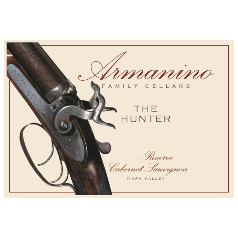 Armanino The Hunter Reserve Cabernet Sauvignon 2011 Front Label