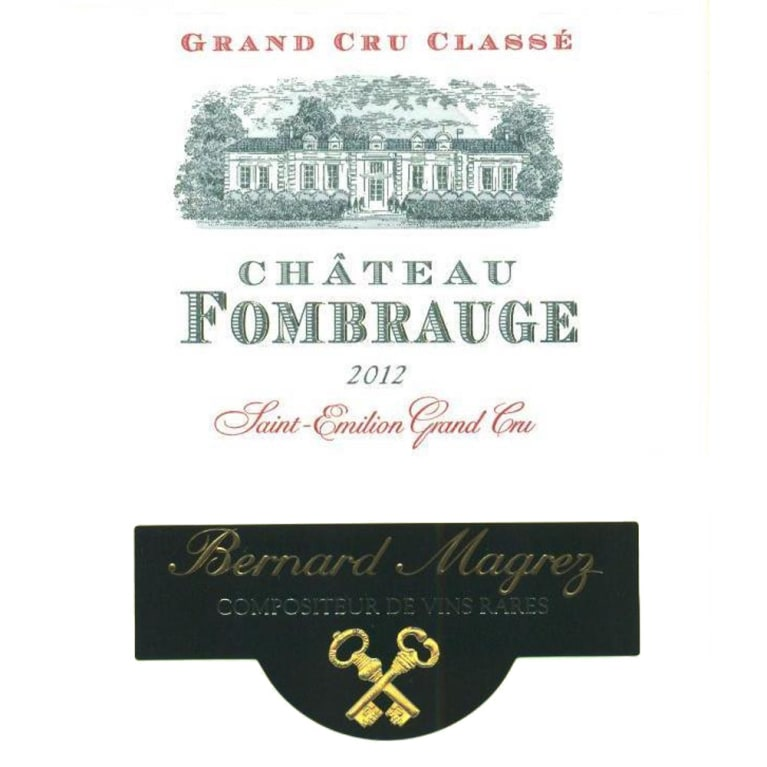 Chateau Fombrauge  2012 Front Label