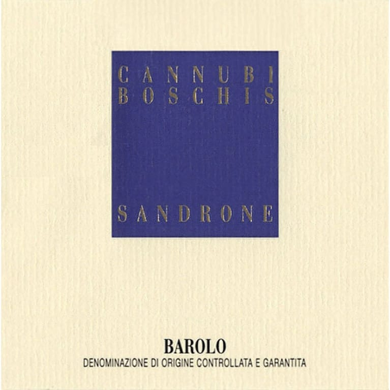Sandrone Barolo Cannubi Boschis 2004 Front Label
