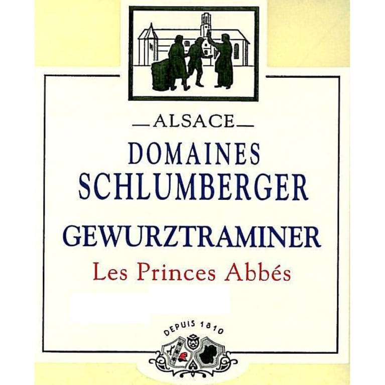 Domaines Schlumberger Les Princes Abbes Gewurztraminer 2011 Front Label