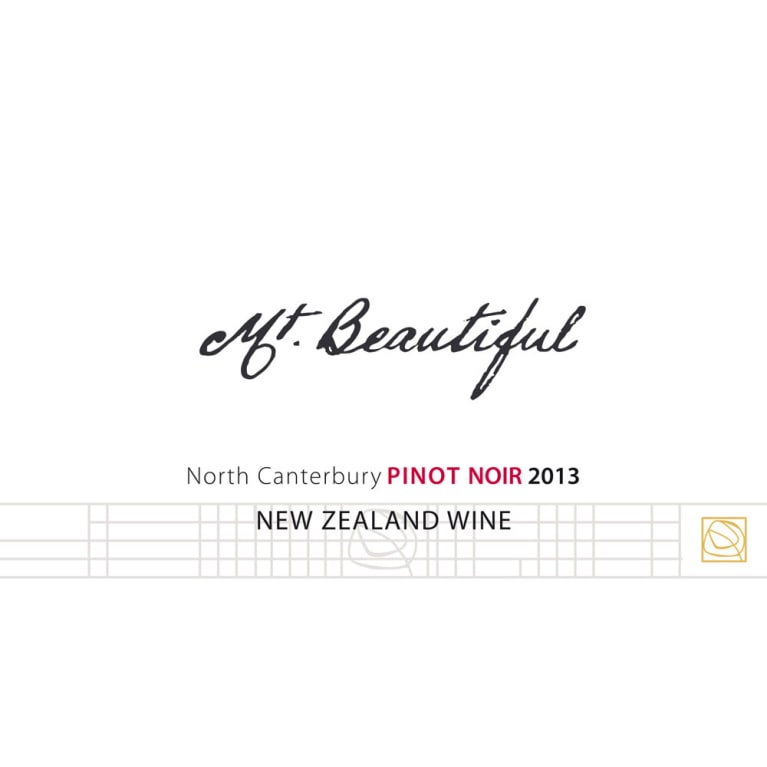 Mt. Beautiful Pinot Noir 2013 Front Label