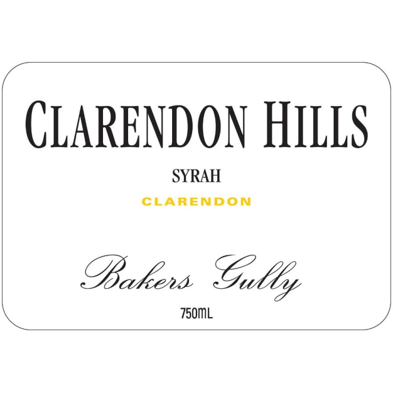Clarendon Hills Bakers Gully Syrah 2008 Front Label