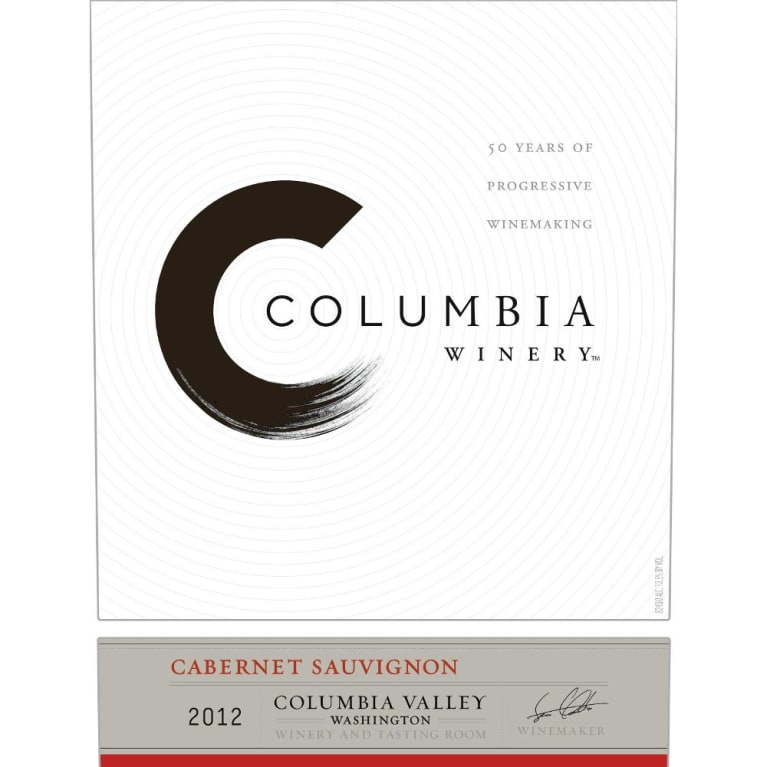 Columbia Winery Cabernet Sauvignon 2012 Front Label