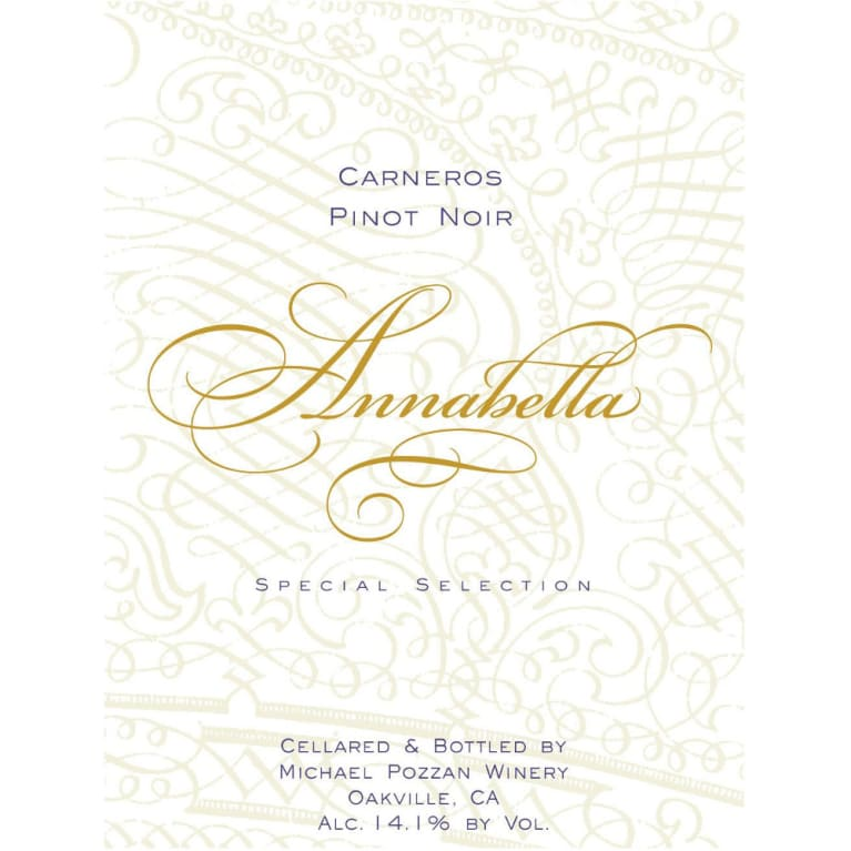 Annabella Carneros Pinot Noir 2013 Front Label